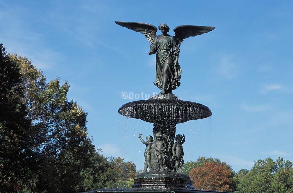 angel statue Central Park NYC