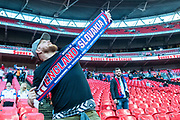 Slovakia fan at the FIFA World Cup Qualifier match between England and Slovakia at Wembley Stadium, London, England on 4 September 2017. Photo by Sebastian Frej.