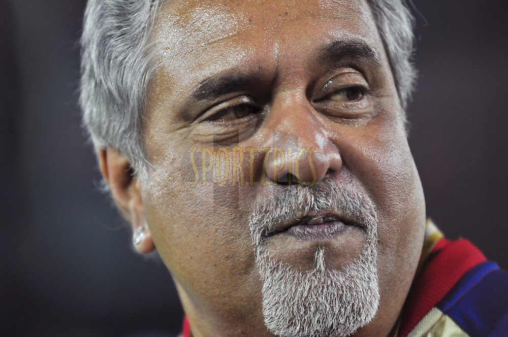 RCB owner Vijay mallya with his son Siddharth mallya during match 25 of the the Indian Premier League ( IPL) 2012  between The Kings X1 Punjab and The Royal Challengers Bangalore India held at the Punjab Cricket Association Stadium, Mohali on the 20th April 2012..Photo by Arjun Panwar/IPL/SPORTZPICS