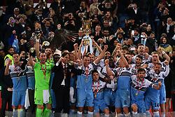 May 15, 2019 - Roma, Italia - Foto Alfredo Falcone - LaPresse15/05/2019 Roma ( Italia)Sport CalcioLazio - AtalantaFiinale Tim Cup 2018 2019 - Stadio Olimpico di RomaNella foto: la Lazio vince la Coppa Italia 2018/2019Photo Alfredo Falcone - LaPresse15/05/2019 Roma (Italy)Sport SoccerLazio - AtalantaTim Cup Final Match 2018 2019 - Olimpico Stadium of RomaIn the pic: Lazio wins the Italian Cup 2018/2019 (Credit Image: © Alfredo Falcone/Lapresse via ZUMA Press)