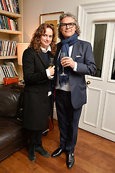 ANGHARAD WOOD and GEORGE WAUD at a lunch to promote the jewellery created by Luis Miguel Howard held at Morton's, Berkeley Square, London on 20th October 2016.