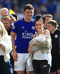 Leicester City's Harry Maguire after the final whistle during the Premier League match at the King Power Stadium, Leicester.
