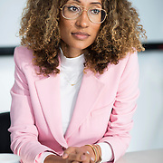 December 14, 2016 - New York, NY : Elaine Welteroth, Editor-in-Chief of Teen Vogue, is photographed during her interview with the New York Times's Anna North (not visible) at Condé Nast's Teen Vogue offices in One World Trade in Manhattan on Wednesday afternoon. CREDIT: Karsten Moran for The New York Times
