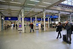 © Licensed to London News Pictures. 13/03/2020. London, UK. Empty St Pancras International departures amid an increased number of Coronavirus (COVID-19) cases in the UK. 798 cases have been tested positive and ten patients have died from the virus in the UK. Photo credit: Dinendra Haria/LNP