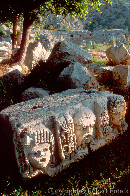 TURKEY, GREEK AND ROMAN Myra; masks from Roman Theatre