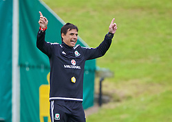 CARDIFF, WALES - Wednesday, June 1, 2016: Wales' manager Chris Coleman during a training session at the Vale Resort Hotel ahead of the International Friendly match against Sweden. (Pic by David Rawcliffe/Propaganda)