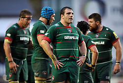 Fraser Balmain of Leicester Tigers looks on - Photo mandatory by-line: Patrick Khachfe/JMP - Mobile: 07966 386802 16/11/2014 - SPORT - RUGBY UNION - Leicester - Welford Road - Leicester Tigers v Saracens - Aviva Premiership
