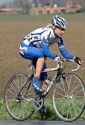 03-04-2006 WIELRENNEN: COURSE DOTTIGNIES: BELGIE<br /> Modesta Yzesniaukaite<br /> ©2006-WWW.FOTOHOOGENDOORN.NL
