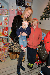 LONDON, ENGLAND 1 DECEMBER 2016: Jade Parfitt, Tabitha Dyson, Jackson Burgess at the 10th birthday party for the toy shop HoneyJam, 2 Blenheim Crescent, Notting Hill, London, England. 1 December 2016.