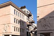 Germany, Cologne, the Gerling Quartier, the former headquarters of the Gerling insurance group was converted into an exclusive residential and office complex.<br /> <br /> Deutschland, Koeln, das Gerling Quartier, der ehemalige Unternehmenssitz der Gerling Versicherungsgruppe wurde in eine exklusive Wohn- und Bueroanlage umgebaut.