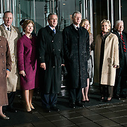 Pres. Bush stands alongside former Presidents George H.W. Bush, William Jefferson Clinton, and Jimmy Carter during the opening of the Clinton Presidential Library Thursday, November 18, 2004, in Little Rock, AR.  Also attending are spouses Barbara Bush, Laura Bush, Hillary Clinton, Chelsea Clinton, and Rosslyn Carter...Photo by Khue Bui