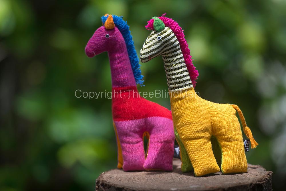 Barefoot soft toys. Inguru the Giraffe.