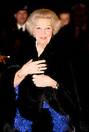 THE HAGUE - Princess Beatrix arrives at an anniversary concert at the Royal Theatre. In The Hague, the festivities surrounding the 200th anniversary of the Royal Army launched. COPYRIGHT COPYRIGHT ROBIN UTRECHT