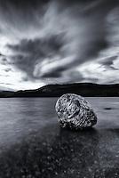 Water and clouds at Fish Lake, Yukon