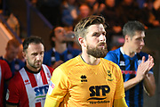 Josh Vickers of Lincoln City during the EFL Sky Bet League 1 match between Rochdale and Lincoln City at the Crown Oil Arena, Rochdale, England on 17 September 2019.