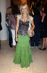 "HANNAH SANDLING at a party hosted by Christopher Bailey to celebrate the launch of ""The Snippy World of New Yorker Fashion Artist Michael Roberts"" held at Burberry, 21-23 New Bond Street, London on 20th September 2005.<br />