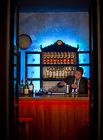 Antigua, Guatemala - March 10, 2015: A bartender prepares a pisco sour at Angeline, a Spanish and Vietnamese fusion restaurant. The new restaurant resides in a renovated 120-year-old private house. CREDIT: Chris Carmichael for The New York Times