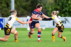 Kate Newton of Bristol Ladies is tackled by Tina Veale of Wasps Ladies- Mandatory by-line: Craig Thomas/JMP - 28/10/2017 - RUGBY - Cleve RFC - Bristol, England - Bristol Ladies v Wasps Ladies - Tyrrells Premier 15s