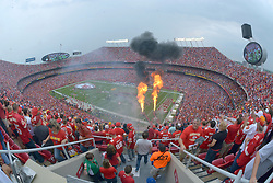 Sep 15, 2013; Kansas City, MO, USA; A general view of the pre-game ceremonies before the game between the Kansas City Chiefs and Dallas Cowboys at Arrowhead Stadium. Mandatory Credit: Denny Medley-USA TODAY Sports