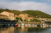 ACCIAROLI, ITALY - 14 SEPTEMBER 2018: A view of Acciaroli and its seafront in Acciaroli, a small fishing village in the municipality of Pollica, Italy, on September 14th 2018.<br /> <br /> To understand how people can live longer throughout the world, researchers at University of California, San Diego School of Medicine have teamed up with colleagues at University of Rome La Sapienza to study a group of 300 citizens, all over 100 years old, living in Acciaroli (Pollica), a remote Italian village nestled between the ocean and mountains in Cilento, southern Italy.<br /> <br /> About 1-in-60 of the area's inhabitants are older than 90, according to the researchers. Such a concentration rivals that of other so-called blue zones, like Sardinia and Okinawa, which have unusually large percentages of very old people. In the 2010 census, about 1-in-163 Americans were 90 or older.