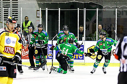 Players of Olimpija celebrate during ice-hockey match between HDD Telemach Olimpija and EV Vienna Capitals in EBEL league, on January 15, 2016 at Hala Tivoli, Ljubljana, Slovenia. Photo by Morgan Kristan / Sportida