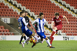 LEIGH, ENGLAND - Wednesday, February 28, 2018: Liverpool's Matthew Virtue shoots at goal during the Under-23 FA Premier League International Cup Quarter-Final match between Liverpool and FC Porto at Leigh Sports Village. (Pic by Paul Greenwood/Propaganda)