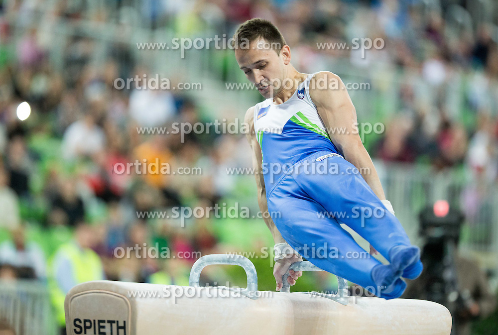Saso Bertoncelj of Slovenia competes in the Pommel Horse during Final of Artistic Gymnastics World Challenge Cup Ljubljana, on April 4, 2015 in Arena Stozice, Ljubljana, Slovenia. Photo by Vid Ponikvar / Sportida