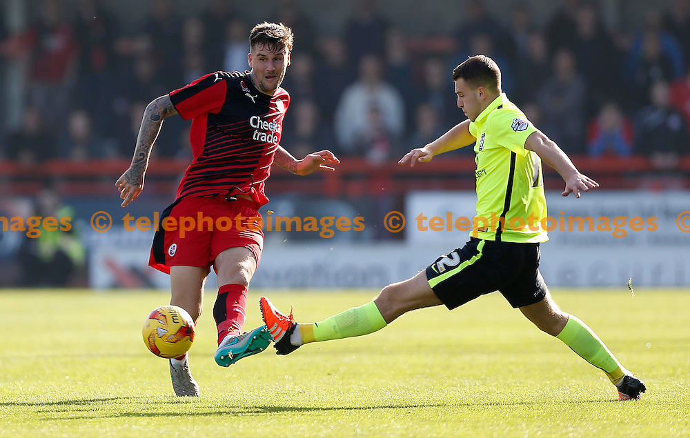 Crawley&rsquo;s Sonny Bradley in action during the Sky Bet League 2 match between Crawley Town and York City at the Checkatrade.com Stadium in Crawley. October 31, 2015.<br /> James Boardman / Telephoto Images<br /> +44 7967 642437