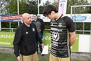 2019, April 17. IJFC, IJsselstein, The Netherlands. Roy van Rossum and Niek Roozen at Creators FC - IJFC Legends.