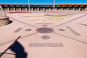 Geographical marker at Four Corners Monument, New Mexico