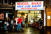 Bagel Bakery, Brick lane, East London, UK.