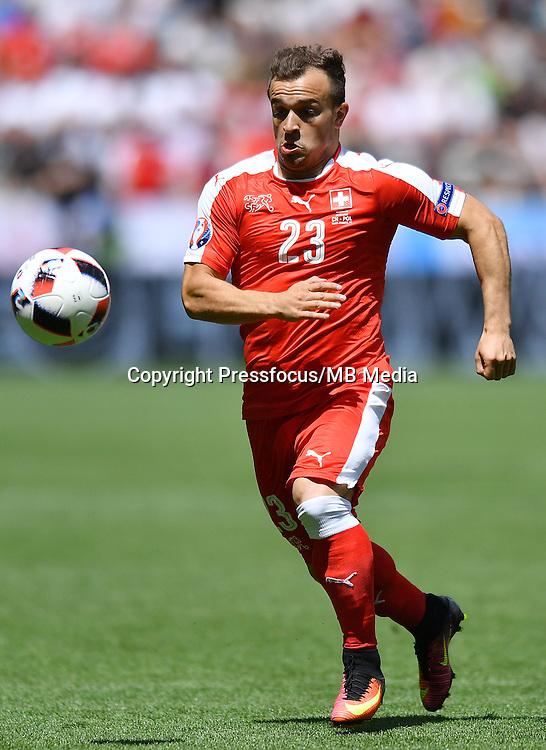 2016.06.25<br /> Football UEFA Euro 2016 <br /> Round of 16 game between Switzerland and Poland<br /> Xherdan Shaqiri<br /> Credit: Lukasz Laskowski / PressFocus