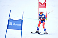 """Schladming, Austria - 2017 March 19: Amy Henrich from USA (368) competes in Alpine Skiing Competition while Special Olympics World Winter Games Austria 2017 on the """"Sepp-Walcher-Downhill"""" (Slope 32) near the """"Tauernalm"""" in Rohrmoos on March 19, 2017 in Schladming, Austria.<br /> <br /> Mandatory credit:<br /> Photo by © Adam Nurkiewicz / Mediasport<br /> <br /> Adam Nurkiewicz declares that he has no rights to the image of people at the photographs of his authorship.<br /> <br /> Picture also available in RAW (NEF) or TIFF format on special request.<br /> <br /> Any editorial, commercial or promotional use requires written permission from the author of image.<br /> <br /> Image can be used in the press when the method of use and the signature does not hurt people on the picture."""