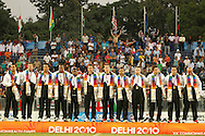 New Zealand win gold during the final of the medal competition of the Rugby Sevens between New Zealand and Australia held at Delhi University as part of the XIX Commonwealth Games in New Delhi, India on the 12 October 2010..Photo by:  Ron Gaunt/photosport.co.nz