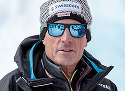 11.02.2017, St. Moritz, SUI, FIS Weltmeisterschaften Ski Alpin, St. Moritz 2017, Abfahrt, Herren, im Bild Sepp Brunner (Cheftrainer Swiss Ski Herren Speed) // Swiss Ski Coach Sepp Brunner before the beginning of the men's Downhill of the FIS Ski World Championships 2017. St. Moritz, Switzerland on 2017/02/11. EXPA Pictures © 2017, PhotoCredit: EXPA/ Johann Groder
