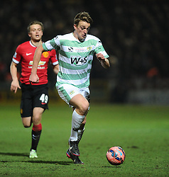 Yeovil Town's Tom Eaves  - Photo mandatory by-line: Joe meredith/JMP - Mobile: 07966 386802 - 04/01/2015 - SPORT - football - Yeovil - Huish Park - Yeovil Town v Manchester United - FA Cup - Third Round