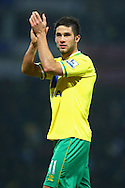 Picture by Paul Chesterton/Focus Images Ltd.  07904 640267.04/02/12.Goalscorer Andrew Surman of Norwich applauds the fans at the end of the Barclays Premier League match at Carrow Road stadium, Norwich.