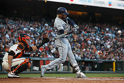 SAN FRANCISCO, CA - JUNE 12: Fernando Tatis Jr. #23 of the San Diego Padres at bat against the San Francisco Giants during the third inning at Oracle Park on June 12, 2019 in San Francisco, California. The San Francisco Giants defeated the San Diego Padres 4-2. (Photo by Jason O. Watson/Getty Images) *** Local Caption *** Fernando Tatis Jr.