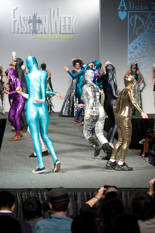 Designer Alicia Zenobia, Winner of 2011 TOP DESIGN COMPETITION of New Orleans showed her collection at New Orleans Fashion Week, Louisiana