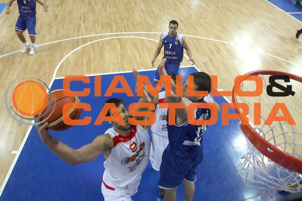 DESCRIZIONE : Katowice Poland Polonia Eurobasket Men 2009 Finale 1 2 posto Final 1st 2nd place Spagna Spain Serbia<br /> GIOCATORE : Felipe Reyes<br /> SQUADRA : Spagna Spain<br /> EVENTO : Eurobasket Men 2009<br /> GARA : Spagna Spain Serbia<br /> DATA : 20/09/2009 <br /> CATEGORIA :<br /> SPORT : Pallacanestro <br /> AUTORE : Agenzia Ciamillo-Castoria/E.Castoria<br /> Galleria : Eurobasket Men 2009 <br /> Fotonotizia : Katowice  Poland Polonia Eurobasket Men 2009 Finale 1 2 posto Final 1st 2nd place Spagna Spain Serbia<br /> Predefinita :