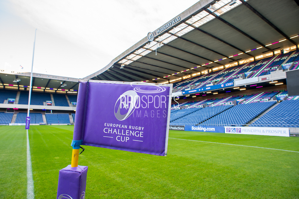 General view inside BT Murrayfield, Edinburgh, Scotland before the European Rugby Challenge Cup match between Edinburgh Rugby and SU Agen on 18 January 2020.