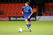 AFC Wimbledon defender Callum Kennedy (23) dribbling during the EFL Trophy match between Barnet and AFC Wimbledon at Underhill Stadium, London, England on 29 August 2017. Photo by Matthew Redman.