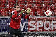 Rotherham United goalkeeper Lee Camp (1)  during the Sky Bet Championship match between Rotherham United and Middlesbrough at the New York Stadium, Rotherham, England on 8 March 2016. Photo by Simon Davies.
