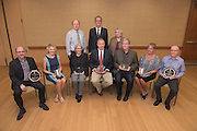 Winners of the 2016 Faculty Awards Recognition Ceremony pose for a portrait following the ceremony in Baker University Center on Tuesday, September 6, 2016.