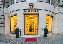 Aigner boutique on famous Kurfurstendamm shopping street in Berlin, Germany.