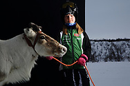 Ten-year-old Anna Maria Eira, winner of the 2018 World Cup in junior class reindeer racing, is also the proud owner of Suiva, fastest animal in Norway and this year's senior class winner.