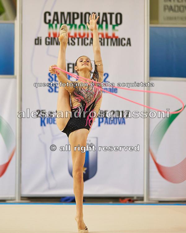 Viola Romano from Udinese team during the Italian Rhythmic Gymnastics Championship in Padova, 25 November 2017.