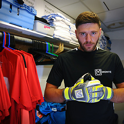 TELFORD COPYRIGHT MIKE SHERIDAN James Montgomery product launch for Monte GK Gloves at the New Bucks Head Stadium on Friday, June 6, 2020.<br /> <br /> Picture credit: Mike Sheridan/Ultrapress<br /> <br /> MS202021-001