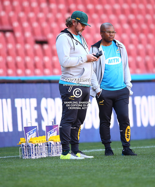 during the South African - Springbok Captain's Run at Emirates Airline Park,<br /> Johannesburg .South Africa. 08,06,2018 Photo by (Steve Haag Sports)