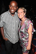 22 June-New York, NY-   l to r: DJ Cool Marv and Ginny Suss( the ROOTS) backstage at the Mo' Meta Blues II Paid in Full 25th Anniversary with Rakim, Black Thought & The Roots Produced by Jill Newman Productions as part of the Blue Note Jazz Festival and held at the Blue Note on June 22, 2011 in New York City. Photo Credit: Terrence Jennings